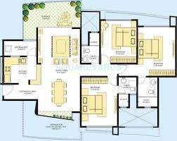azure floor plan 2 bhk 1855 sq ft penthouse for sale in marvel azure at rs 7300 0