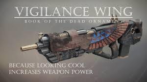 destiny 2 vigilance wing book of the dead ornament is sick