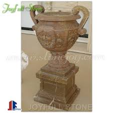 Stone Urn Planter by Large Beige Marble Stone Garden Urn Planter Pots Buy Large Stone