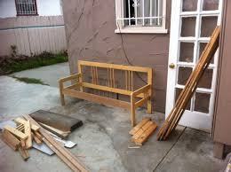 ikea full bedframe into garden bench ikea hackers