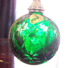 ornament beautiful waterford ornaments waterford green cased