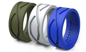 Silicone Wedding Ring by Silicone Wedding Rings For Men 3 Rings Pack Groupon
