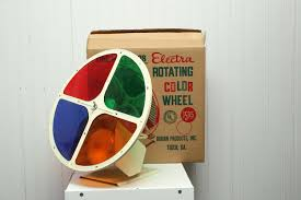 chic rotating color wheel for christmas tree vintage stand 224