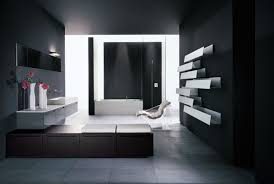 modern bathroom vanity ideas modern contemporary metal shelves on black painted wall also