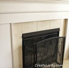 createlivity is fireplace makeover painting tiles