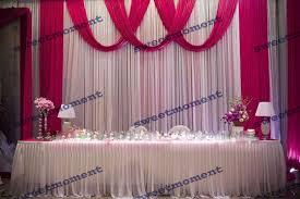 wedding backdrop buy 3x6m sheer wedding curtain with fuschia drape wedding backdrop