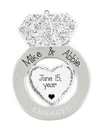 engagement my personalized ornaments