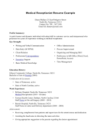 Sample Objective Resume For Nursing Medical Assistant Resumes Examples Medical Resume No Experience
