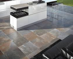 Slate Tiles Kitchen - slate tiles outdoor floor for contemporary outdoor kitchen