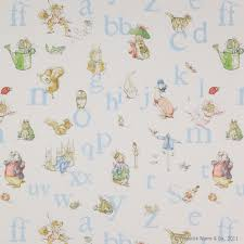 Fabric For Nursery Curtains Alphabet Beatrix Potter Fabric Churchill Product Library