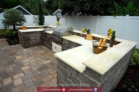 yard crashers fischer italian inspired outdoor kitchen angled