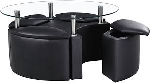 good round coffee table with stools on round coffee table with 4