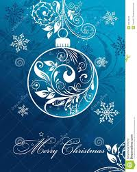 christmas card with an ornament vector stock vector image 34478549