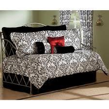 Daybed Comforter Set Astor Black White 4 Pc Daybed Comforter Set