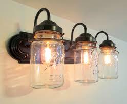 vanity wall sconce lighting mason jar wall sconce vintage quart trio light vanity bathroom