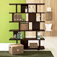 furniture home one decorative bookcases dark colour unique design