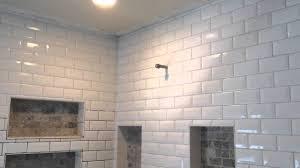 How To Grout Bevel Tile YouTube - Beveled subway tile backsplash