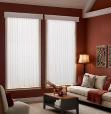 decorating window decor with white levolor blinds on dark orange