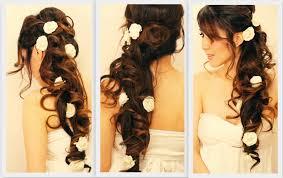 curly side braid hairstyles elegant side swept curls wedding prom