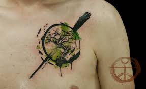awesome colored mystical tree on chest pm