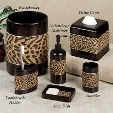 Zebra Themed Bathroom Brown Zebra Bathroom Set Brightpulse Us