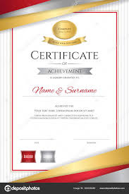 luxury certificate template with elegant golden border frame di