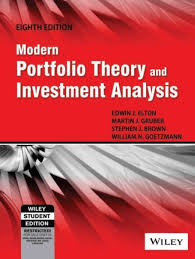 modern portfolio theory and investment analysis 8th ed 8th