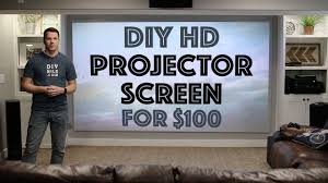 home theater screen paint diy hd projector screen for 100 youtube