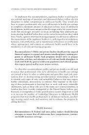 health essay sample 7 overall conclusions and recommendations adolescent health page 307