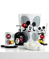 Mickey And Minnie Bathroom Bath Accessories Disney Mickey Mouse Toothbrush Holder Bathroom