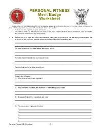 Emergency Preparedness Worksheet Printables Boy Scout Merit Badge Worksheet Answers Whelper