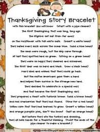 thanksgiving story bracelet free story telling activity 1st bead