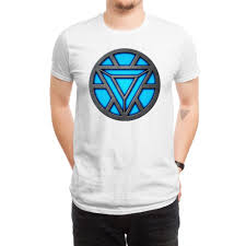 custom light up t shirts light up arc reactor led iron original white men s t shirt q7b9vnkr