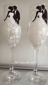 Wedding Gift Glasses Wedding Champagne Glasses Hand Painted Glasses Anniversary