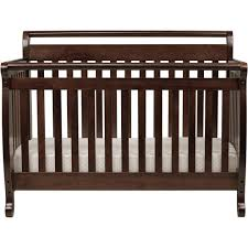 Black Convertible Crib Davinci Emily 4 In 1 Convertible Crib Black Walmart