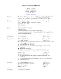Impressive Resume Examples by Sample Chronological Resume Berathen Com