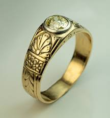 mens old rings images Antique fancy color diamond gold men 39 s ring antique jewelry jpg