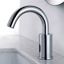 sensor brass contemporary bathroom sink faucet chrome finish