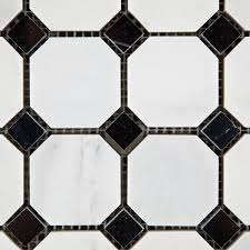 oriental u0026 eastern white marble octagon mosaic tiles black dots