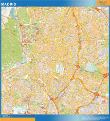 Madrid Map Our Madrid Wall Map Wall Maps Mapmakers Offers Poster Laminated