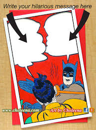 Bright Slap Meme - batman slap meme greeting card large card any occasion