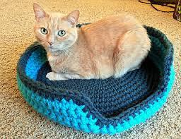 Cat Bed Pattern Ravelry Sturdy U0026 Comfy Cat Bed Pattern By Lauren Elizabeth
