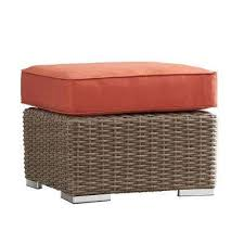 red outdoor ottomans outdoor lounge furniture the home depot