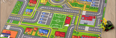 traffic play city street map kids rugs play city kids road map