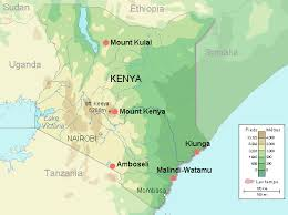 geographical map of kenya physical map of kenya kenya physical map vidiani maps of