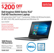 black friday dell laptops costco deal dell inspiron 5000 series 15 6in full hd touchscreen