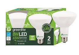 greenlite led shop light greenlite 8w led sleek dimmable br30 bulbs 650 lumens 2 pack