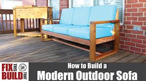 How To Build Patio Furniture Diy Modern Outdoor Sofa How To Build Youtube