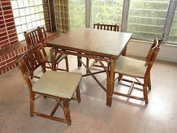 Rattan Kitchen Table by Rare 60 U0027s Ficks Reed Rattan Dining Table U0026 Chairs Sliding