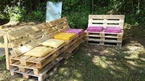 canap en palette avec dossier salon de jardin d angle en palette ours54